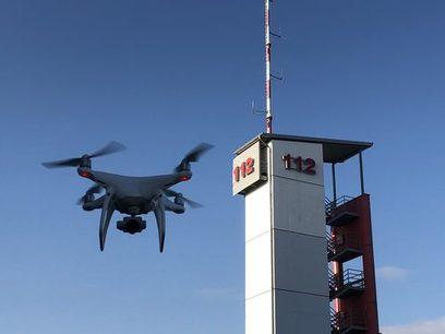 Drohne der Feuerwehren der Stadt Hofheim